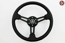 Stoney Racing Steering Wheel Classic Deep Dish Real Leather 350mm Lightweight