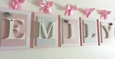 Pink Nursery Letters, Girls Wall Letters, Pink Wooden Letters, Baby Letters