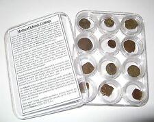 Ancient coin collection 12 Medieval Islamic Fals Umayyad Abbasid w silver dirham
