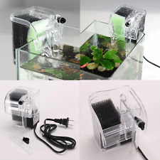 Mini Quiet Fish Tank Hang On Power Filter Aquarium External Oxygen Water Pump S5