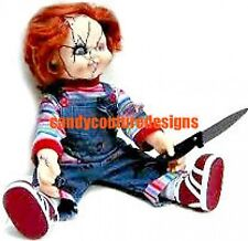 20  WATER SLIDE NAIL  ART DECALS CHUCKY HALLOWEEN DOLL 5/8 INCH