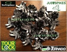 16 New SILVER TORNADO Tour Lock System Golf Spikes Cleats Softspikes Justsp