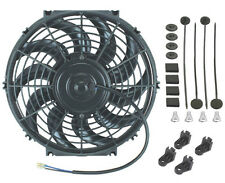 "12"" INCH UNIVERSAL AUTOMOTIVE ELECTRIC RADIATOR COOLING FAN 12V CURVED BLADE NEW"