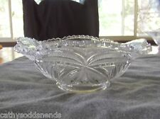 EAPG BRYCE HIGBEE & CO BEAUTIFUL LADY PATTERN SQUARE BOWL CIRCA 1905
