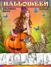 Halloween Coloring Book. Grayscale: Coloring Book for Adults [Paperback]