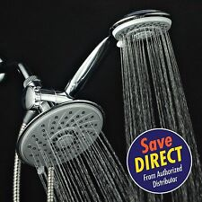 HotelSpa 3-way Multi-Function Rainfall Style Showerhead with Handheld Shower