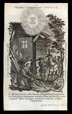 santino incisione 1700  S.FRANCESCO DI PAOLA klauber