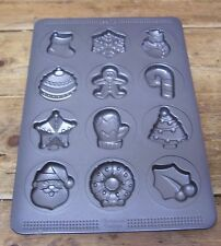 Sweet Creations Christmas Cookie Candy Baking Mold Metal Tray Bakeware Bake