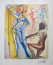 Salvador Dali BALLET OF THE FLOWERS Facsimile Signed Limited Edition Lithograph