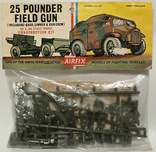 ARMY : 25 POUNDER FIELD GUN BAGGED PLASTIC MODEL KIT BY AIRFIX OO / HO GAUGE