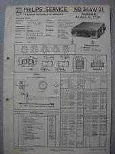 PHILIPS nd344v-01 Autoradio schema elettrico EDIZIONE 11/55