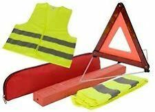 EU Emergency Reflective Warning Triangle Sign and Safery Vest - BARGAIN ---£5.99