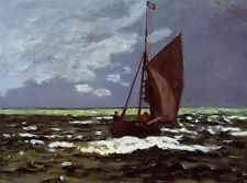 Art Oil painting Claude Monet - Stormy Seascape impressionism Hand painted