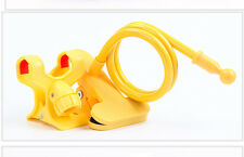 Cell Phone Clip Holder Stand Clip Clamp Mount yellow