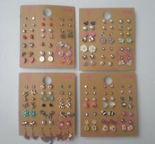 Lot of 84 Pairs of Stud and Dangle Earrings Hypo Allergenic New - lot D