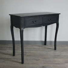 Grey console table with drawers painted french furniture dressing table hallway