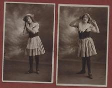 Young ladies costumes 1914 vintage postcards   RP pc  qp.1149