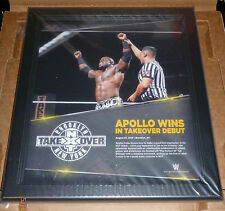 WWE PLAQUE NXT TAKE OVER APOLLO WINS ULTRA RARE FRAMED WRESTLE NEW YORK 2015