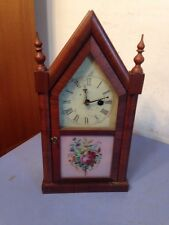 Rare Antique EN Welch Mini Steeple Clock Very Cute