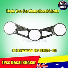 1Pcs Decal Pad Triple Tree Top Clamp Upper Front End Kawasaki ZX10R 2004 - 2005