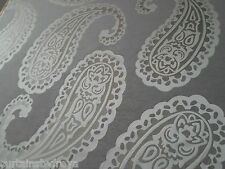 "New Curtains in Laura Ashley EMPEROR PAISLEY Flannel 105"" long FREE ALTERATION"