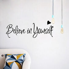Believe In Yourself  Inspirational Vinyl Wall Quotes Lettering Sticker Decal