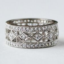 NEW 2.85CT VINTAGE ART DECO BRIDAL ENGAGEMENT WEDDING ETERNITY BAND RING SIZE 9
