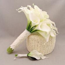 Weiß künstliche Latex Calla-Lilie blüht Blumenstrauß Garden Home Hochzeits deko