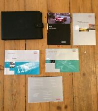 96-02 AUDI A4 / S4  OWNERS HANDBOOK MANUAL PACK WITH DEALER WALLET .