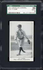 1921 E121 American Caramel (Series of 80) Ty Cobb SGC 88 - blocked name variety