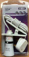 Multipurpose Clip On Light With 2m Cable Plug Fitted BC B22 Bulb Great Value!