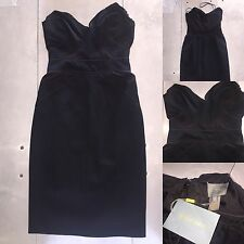Zac Posen Black Fitted Strapless 4 XS S Formal Cocktail Dress NEW
