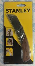 Stanley Wooden Handle Folding Blade Knife Utility Trimming NO BLADE STA010073