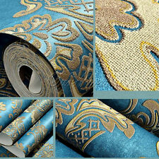 3-layer European Style Embossed Wallpaper Rolls Home Wall Background Room Decor
