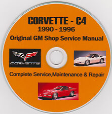 Corvette C-4 1990 -1996 Original GM SHOP - SERVICE - REPAIR - MAINTENANCE MANUAL