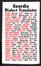 GEORDIE NEWCASTLE  DIALECT QUALITY 100% COTTON FULL SIZE TEA TOWEL PRINTED IN UK