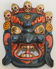 Wooden Mask, Bhairav/Mahakali (Protector),Home Decor,Hand Craved,Nepal,WM-7, New