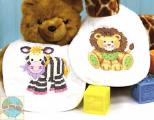 Cross Stitch Kit ~ Dimensions 2 Large BIBS Baby Express Animal Train #73429