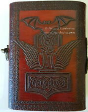 THOR'S LEATHER JOURNAL Witch Wicca Pagan Book of Shadows Goth Spell NORSE