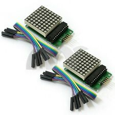 2pcs MAX7219 MCU Control LED Display Dot Matrix Module For Arduino DIY