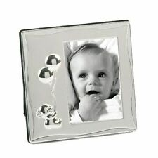 """Impressions  SILVER PLATED BABY TEDDY AND BALLOONS DESIGN 3"""" x 4"""" FRAME FS26734"""