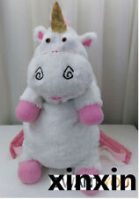 "New Despicable Me 2 Cute Unicorn Backpack 23"" Plush Toy School Bag"