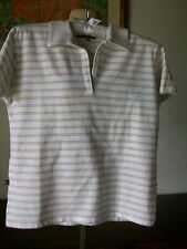 "Lyle & Scott Cotton Striped Golf Top, Size Medium, Underarm 37"" Length 22"""