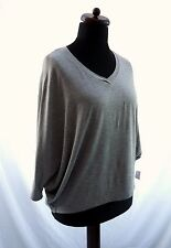 CHA CHA VENTE GREY LAGENLOOK LAYERING BATWING SLEEVES TOP BLOUSE NWT 18 20