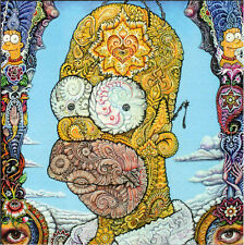 HOMER SIMPSON PSYCHEDELIC BLOTTER ART Perforated Sheet Page acid free paper art