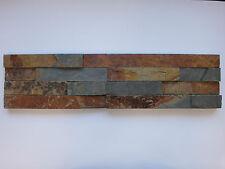 Musterstück ca.15x30cm der Naturstein Wandverblender bunt Riemchen 15x60cm