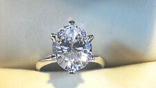 2.00 Ct Oval Cut Solitaire Engagement  Ring. Solid 14k White Gold   +FREE GIFT