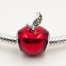 New Authentic Pandora Charms DISNEY SNOW WHITE APPLE SILVER CHARM No.791572EN73
