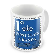 First Class Granda Coffee / Tea Gift Mug - Blue - Brand New