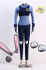 Hot Bunny Rabbit Judy Hopps Cosplay Costume Full Suit Ears and Tail